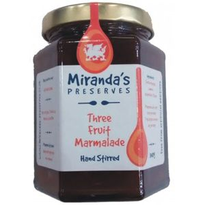 Miranda's Preserves 340g Three Fruit Marmalade