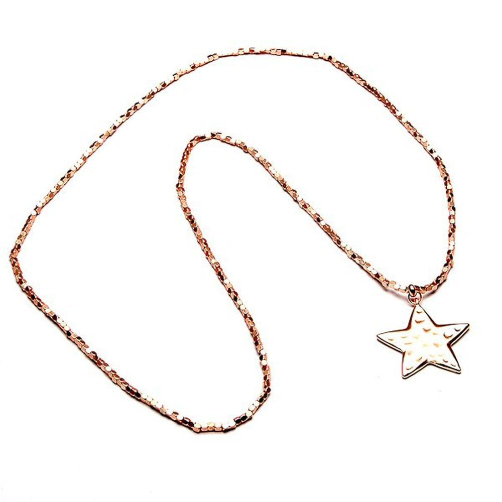 Eliza Gracious Matt Rose Star Necklace