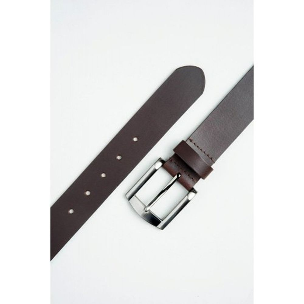 Charles Smith 40mm Leather Belt w/ Gun Metal Buckle - Brown