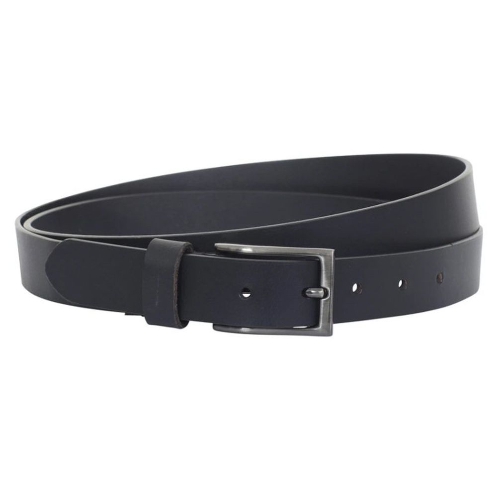 Charles Smith 30mm Leather Belt w/ Gun Metal Buckle - Black
