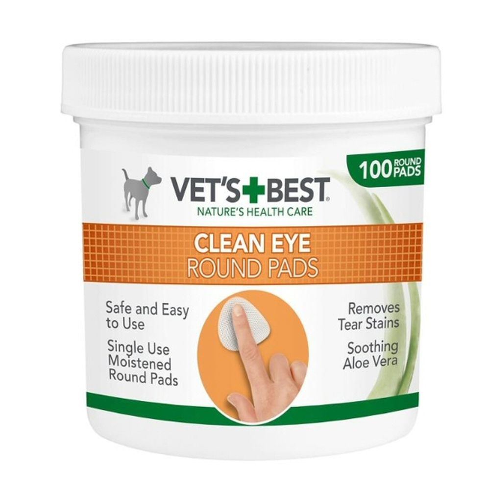 Vet's Best Clean Eye Round Pads for Dogs - 100 Pads