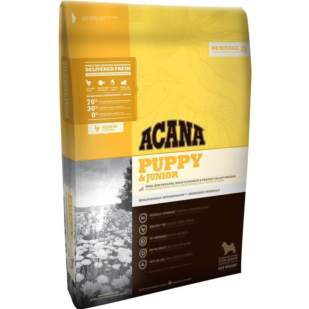 Acana 11.4kg Puppy & Junior Dog Food