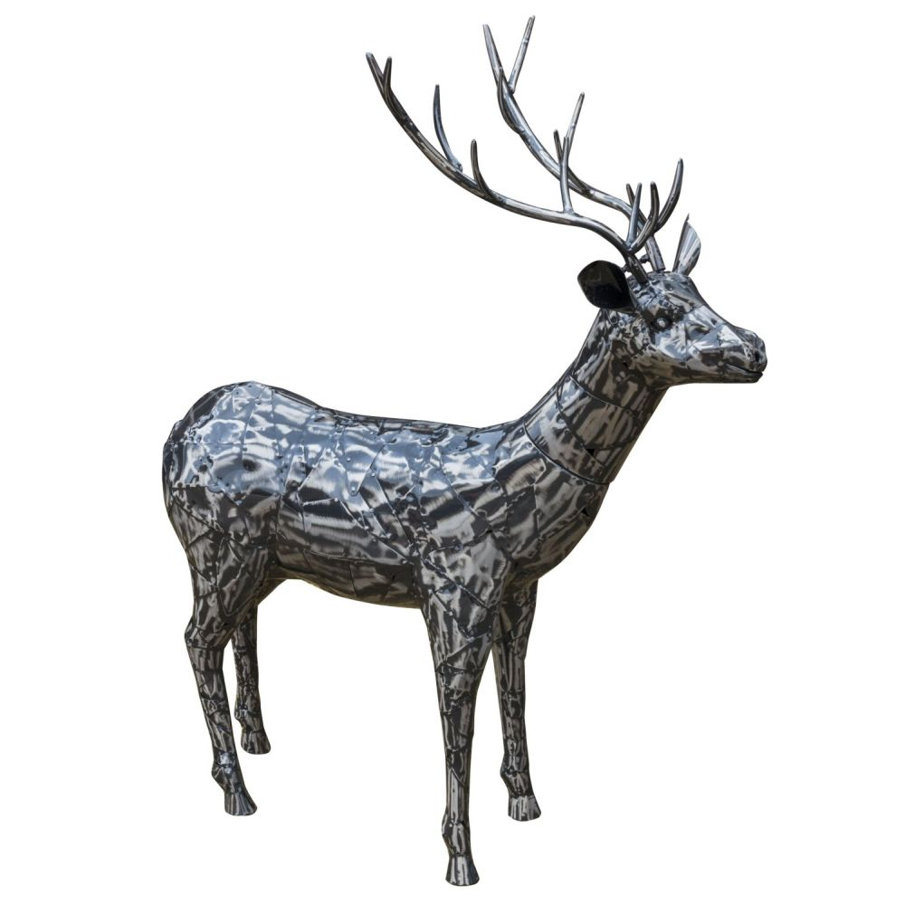 Fountasia 114cm Medium Metal Majestic Stag Sculpture