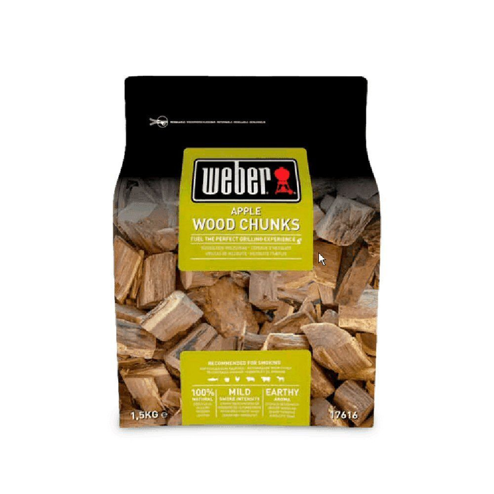 Weber 1.5kg Apple Wood Chunks - 17616