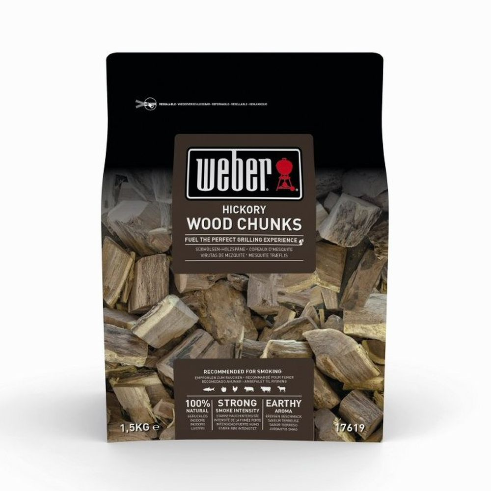 Weber 1.5kg Hickory Wood Chunks - 17619
