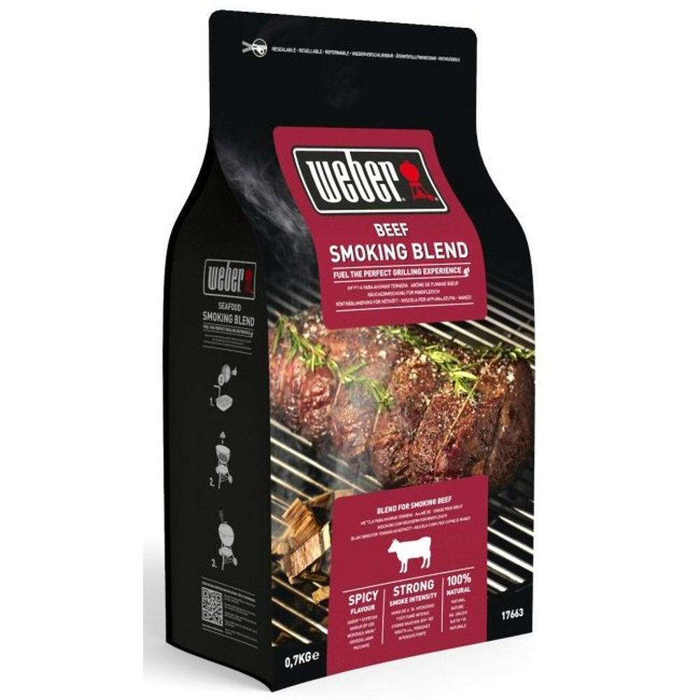 Weber 0.7kg Beef Smoking Blend Wood Chips -017663