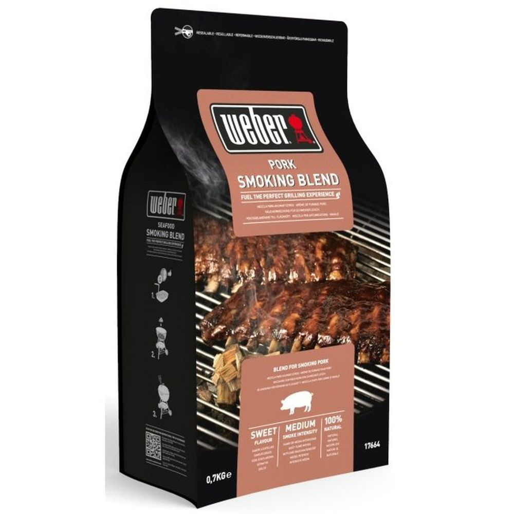 Weber 0.7kg Pork Smoking Blend Wood Chips - 17664