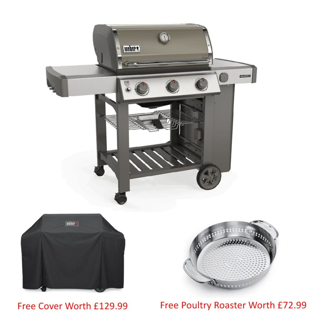 Weber Smoke Grey Genesis II E-310 GBS Gas Barbecue
