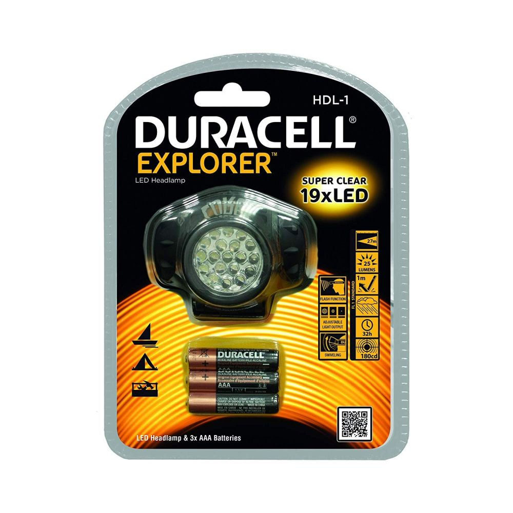 Duracell 25 Lumen Explorer Headlamp Torch