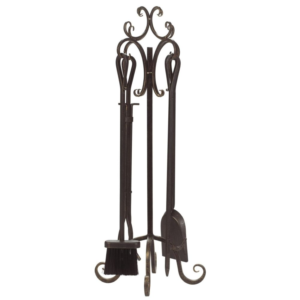 Panacea 5 Piece Scroll Top Fireplace Tool Set - 15916