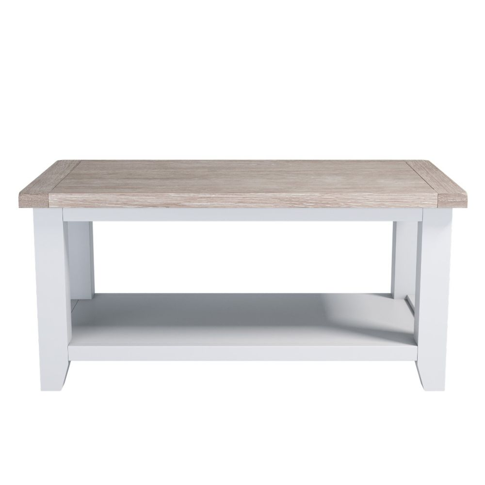 Painted Oak Coffee Table With Shelf