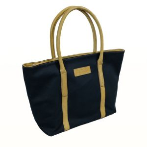 Hayley Hanson Large Navy Leather Trimmed Brecon Tote Bag