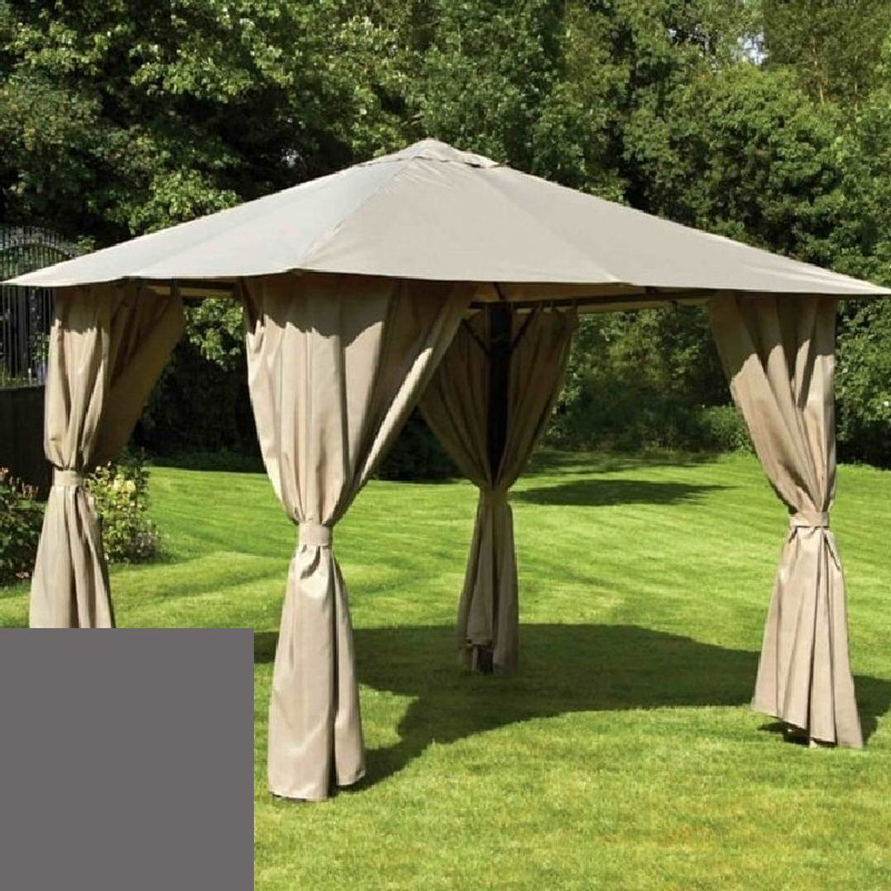 Glendale 3x3m Grey Venice Heavy Duty Square Gazebo