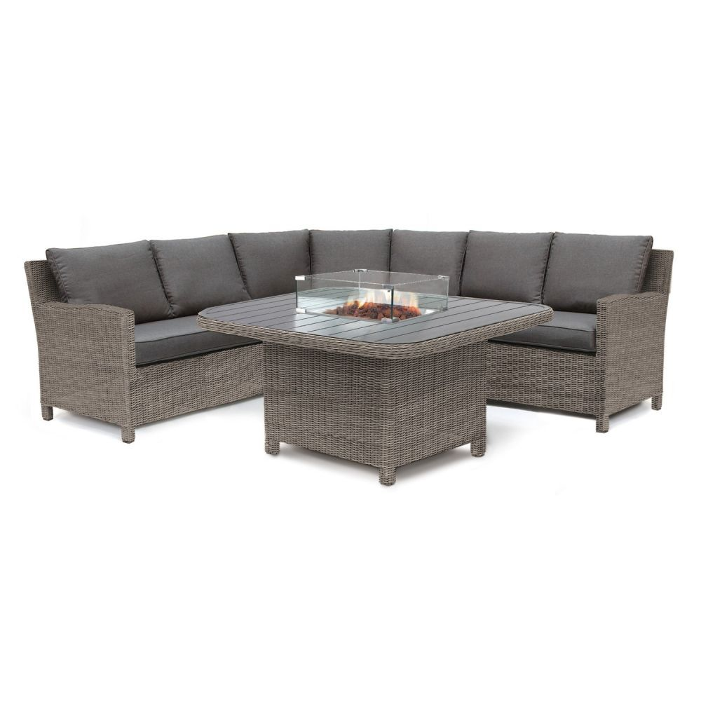 Kettler Palma Grande Suite with Fire Pit Table Rattan
