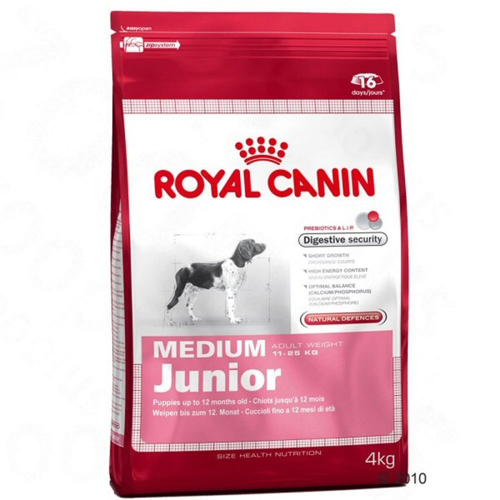Royal Canin 4kg Medium Junior Dog Food