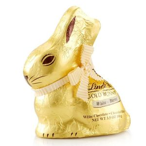 Lindt 200g White Chocolate Gold Bunny