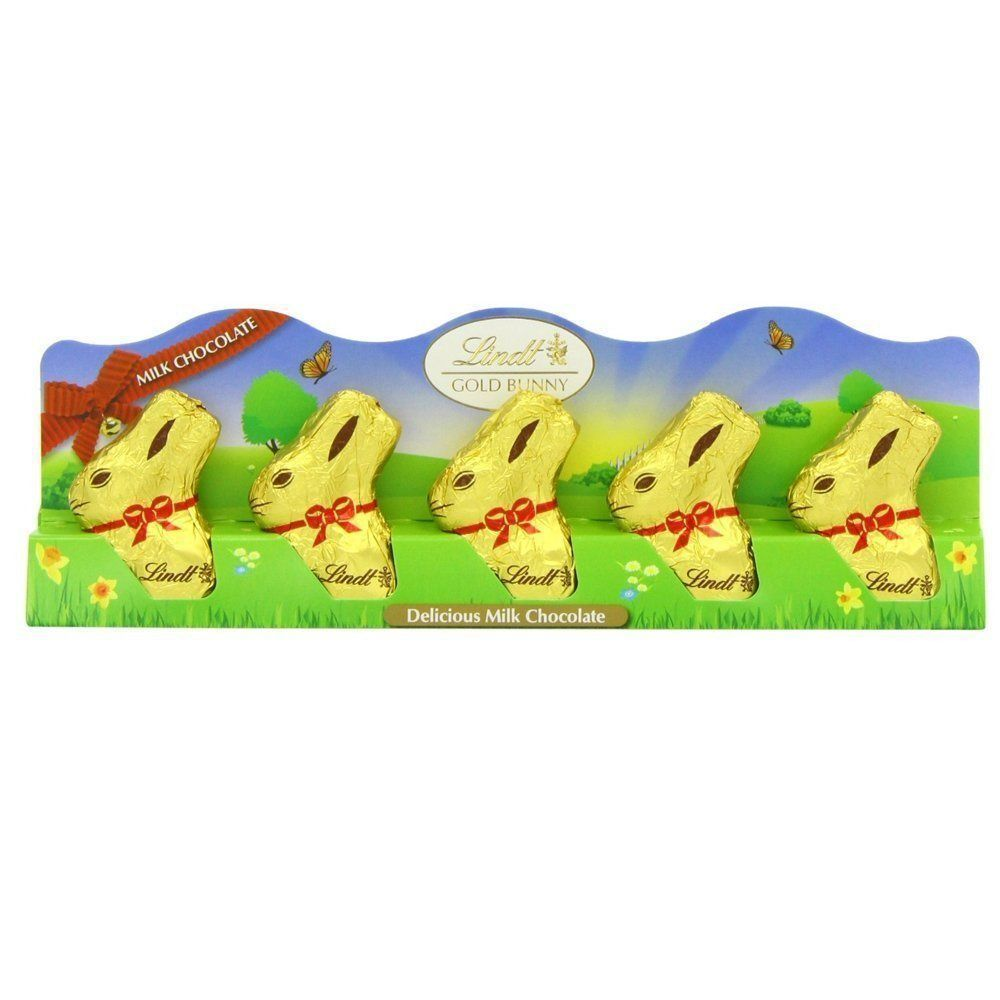 Lindt 5 Milk Chocolate Mini Easter Gold Bunnies