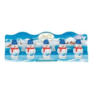 Lindt 50g 5 Milk Chocolate Mini Snowman