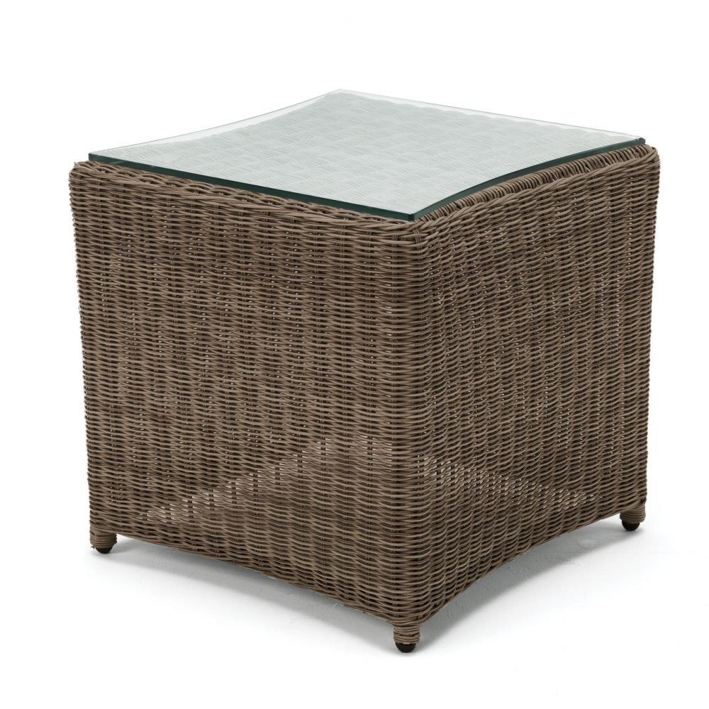 Kettler Rattan Finish Wicker Side Table