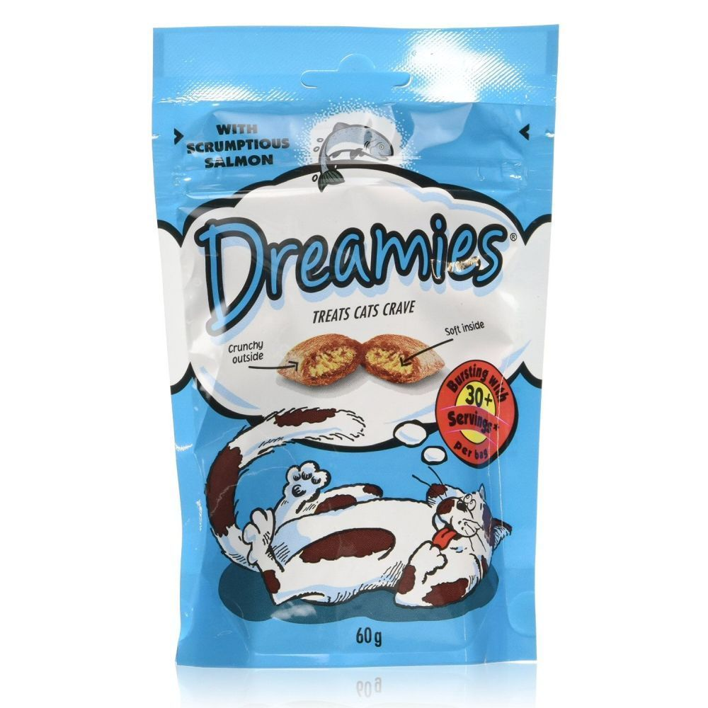 Dreamies 60g Dreamies Cat Crave Treat with Scrumptious Salmon