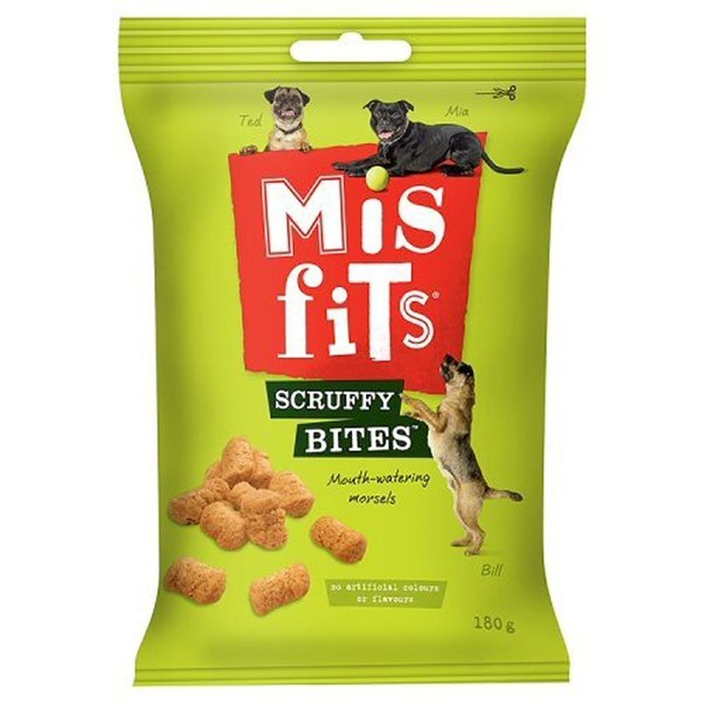 Misfits 180g Scruffy Bites Dog Treats