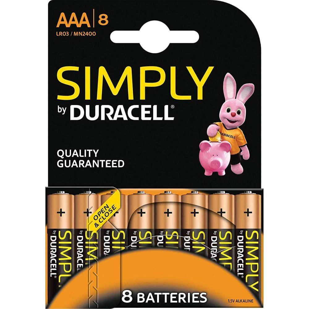 Duracell Pack of 8 AAA LR03 Batteries