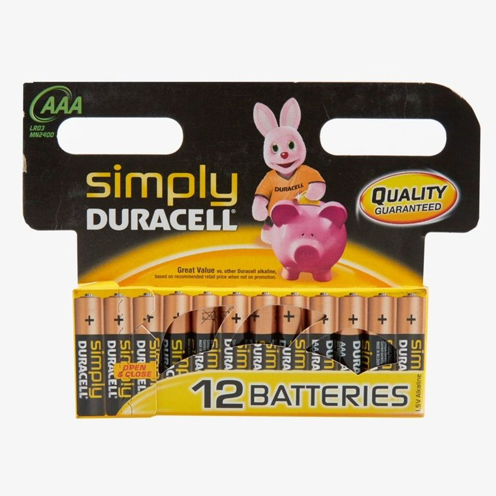 Duracell Simply AAA Batteries (Pack of 12)