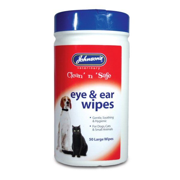 Johnson's Clean 'n' Safe Pet Eye & Ear Wipes - Care Products - Old