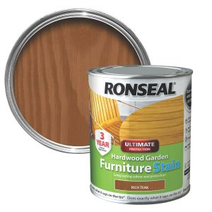 Ronseal 750ml Rich Teak Garden Furniture Stain