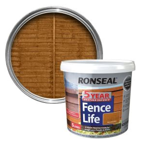 Ronseal 5 Litre Harvest Gold Fence Life Paint