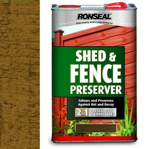 Ronseal 5 Litre Light Brown Shed & Fence Preserver