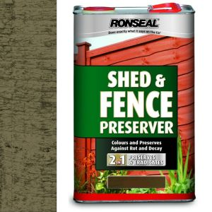 Ronseal 5 Litre Dark Brown Shed & Fence Preserver