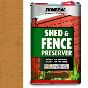 Ronseal 5 Litre Autumn Brown Shed & Fence Preserver