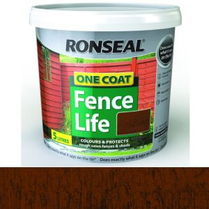 Ronseal 5 Litre Medium Oak One Coat Fence Life