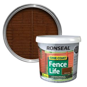 Ronseal 5 Litre Medium Oak Fence Life Paint