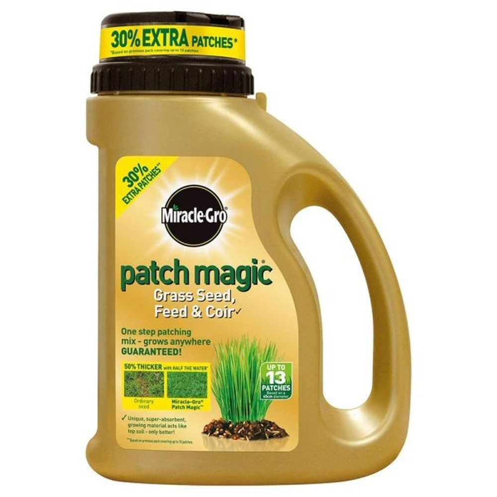 Miracle-Gro 1015g Patch Magic Grass Seed, Feed & Coir Shaker Jug