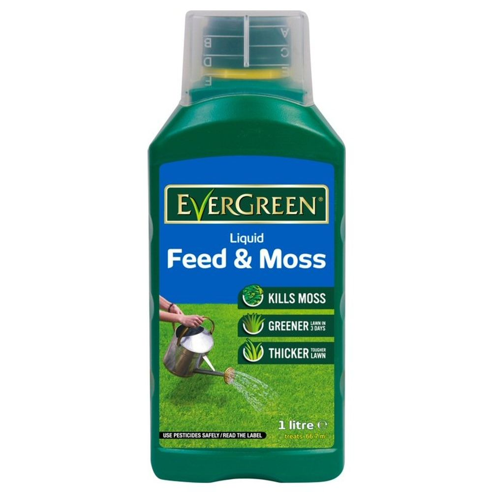 Evergreen 1 Litre Liquid Feed & Moss