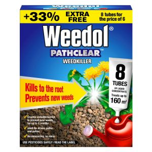 Weedol Pathclear Weedkiller - 6 Tubes + 2 FREE