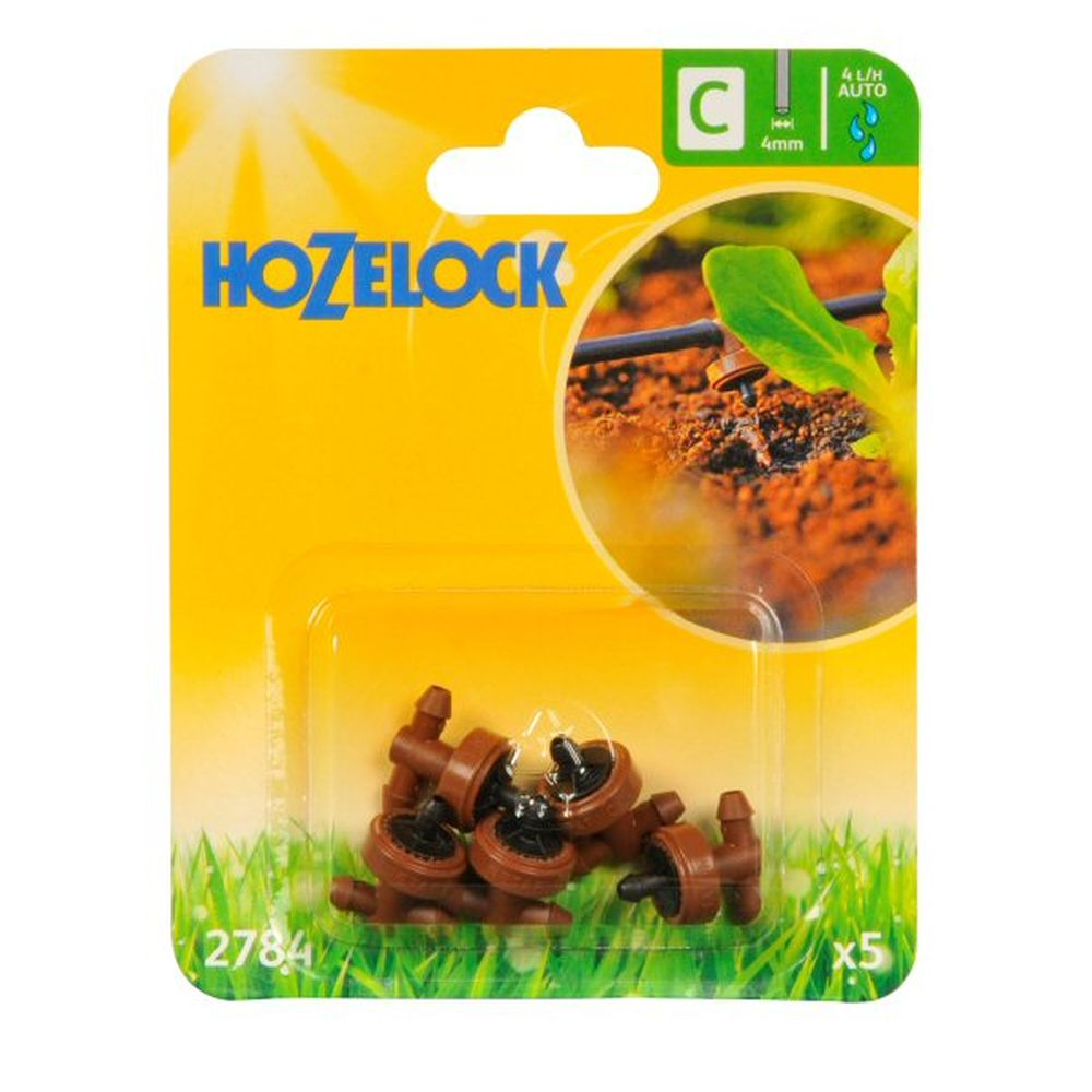 Hozelock 4 LPH Automatic Drippers (Pack of 5)