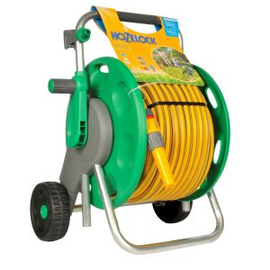 Hozelock 50M Hose Cart with Hose and Fittings - 2435