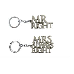 Lesser & Pavey Mr Right or Mrs Always Right Keyring