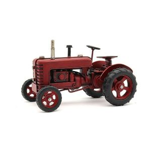Tin 27cm Red Transport Tractor