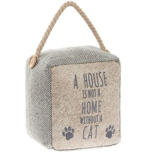 Block Cat Motto Doorstop