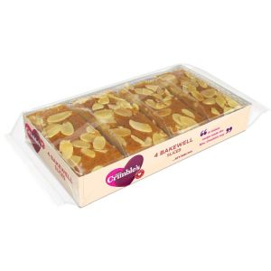 Mrs Crimbles 4 Gluten & Wheat Free Bakewell Slices