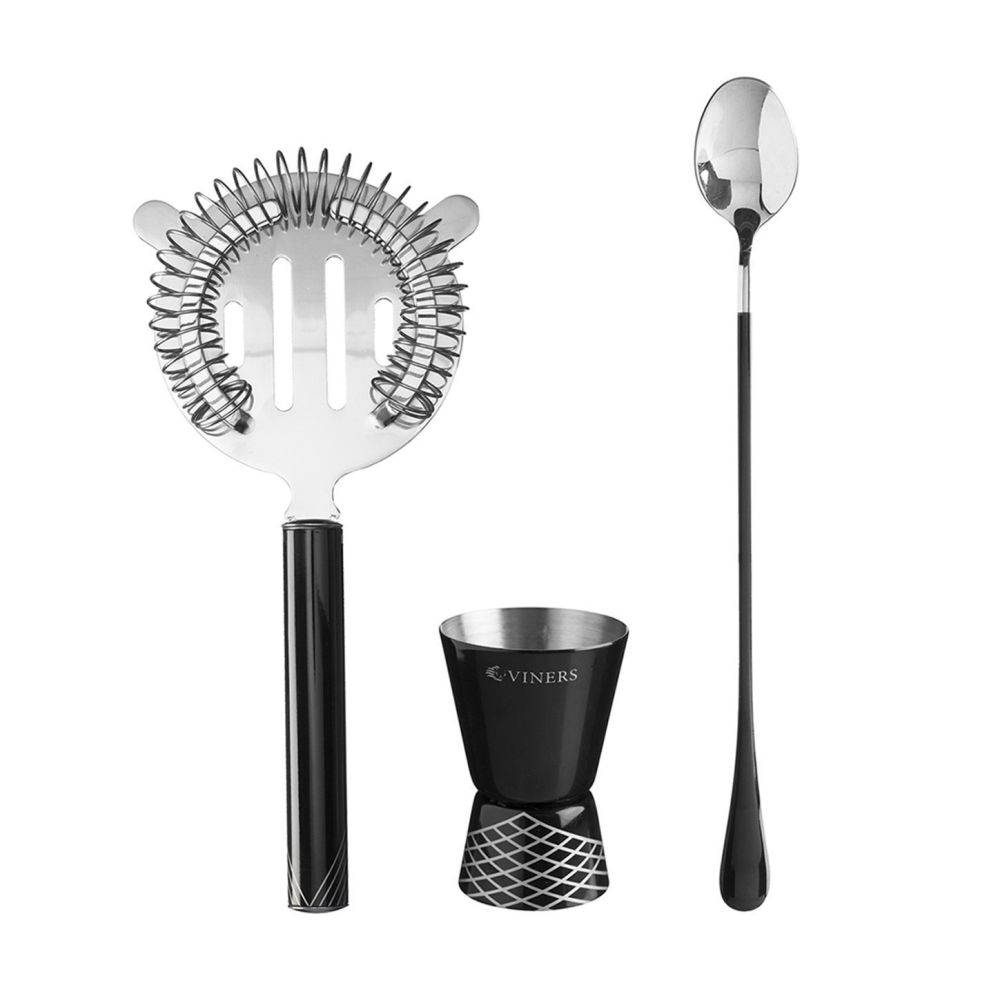 Viners Barware 3 Piece Cocktail Accessory Set
