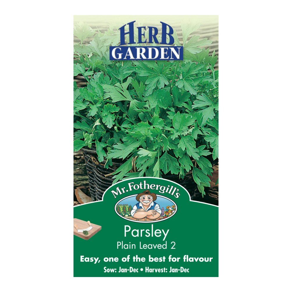 Mr Fothergill's Plain Leaved 2 Parsley Herb Seeds