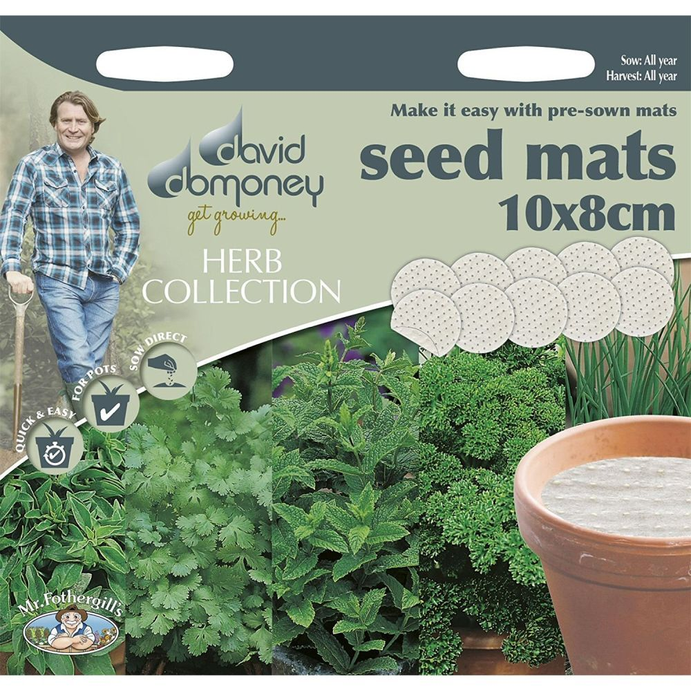 David Domoney Herb Collection Seed Mats