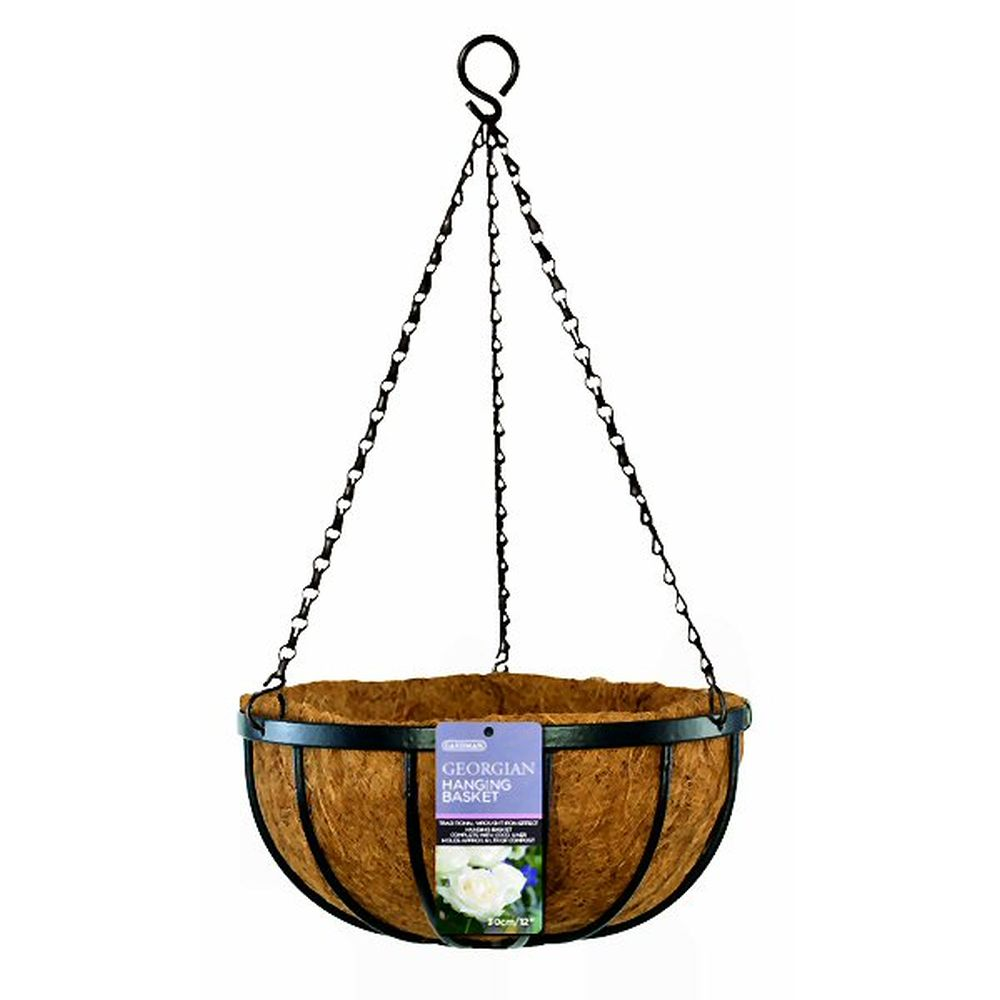 "Gardman 30cm (12"") Georgian Hanging Basket 00900D"