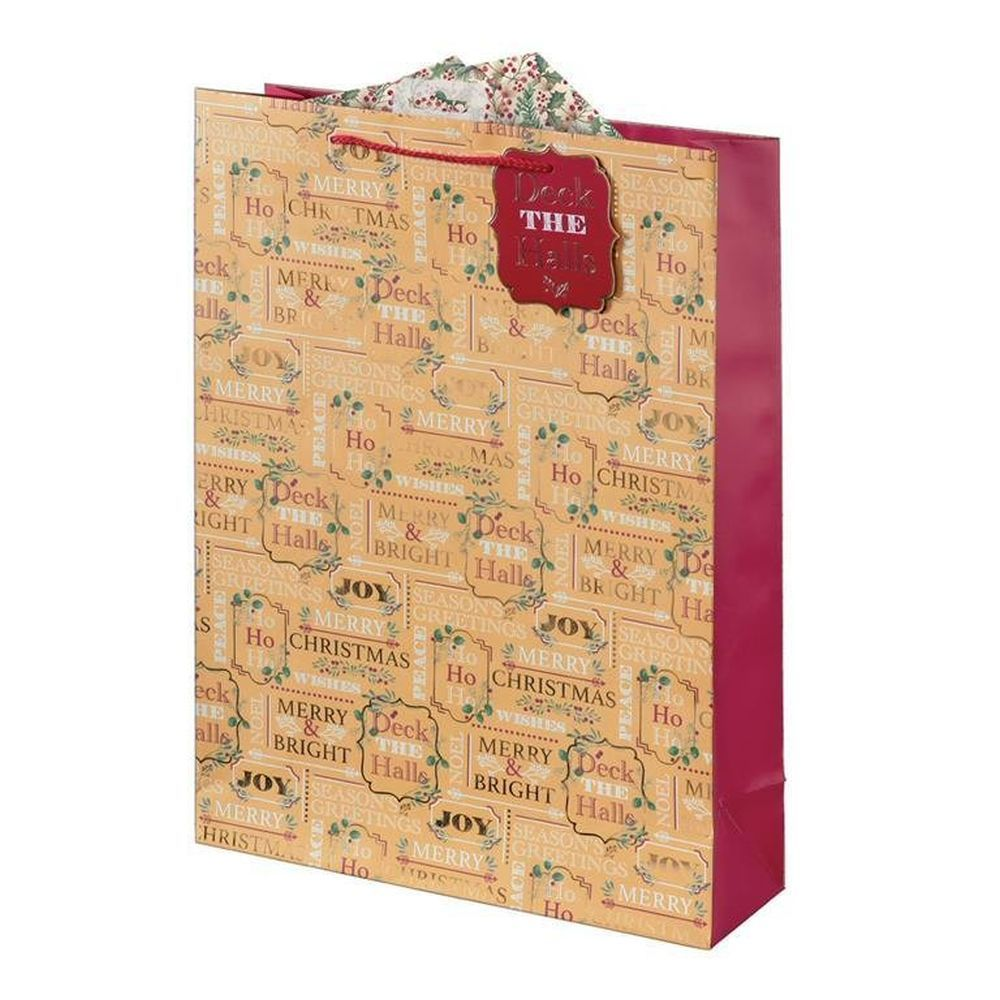 Giftmaker Festive Text Extra Large Gift Bag