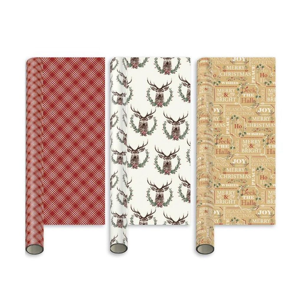 Giftmaker 5m Contemporary Christmas Gift Wrap (Choice of 3)